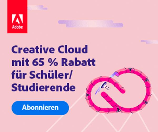 Adobe Studentenrabatt